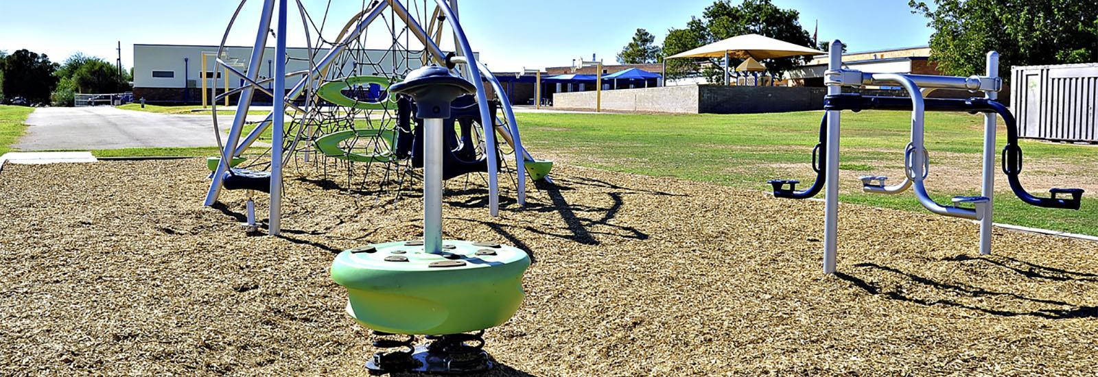 Our Playground features new equipment.